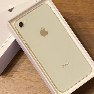Apple - 超美品 iPhone8 64GB SIMフリー シルバー ケーブル未使用