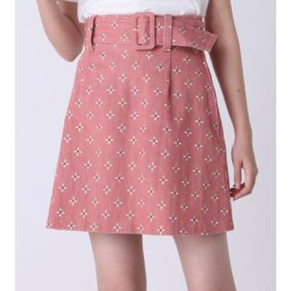 ダズリン(dazzlin)のdazzlin ダズリン リトルフラワー刺繍ミニスカート(ミニスカート)