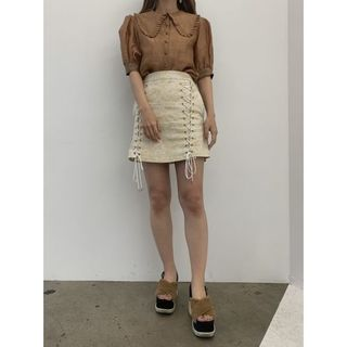 ハニーミーハニー(Honey mi Honey)のlaceup miniskirt(ミニスカート)