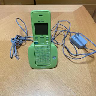 SHARP - SHARP コードレス電話機 JD-S07CL-G グリーン