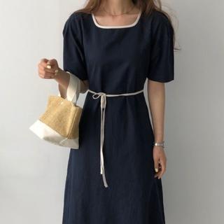 dholic - ABITOKYO ・リネンワンピース・韓国ファッション・未使用美品