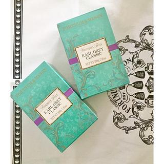 ハロッズ(Harrods)のフォートナム&メイソンアールグレイクラシックリーフ200g✖️2箱(茶)