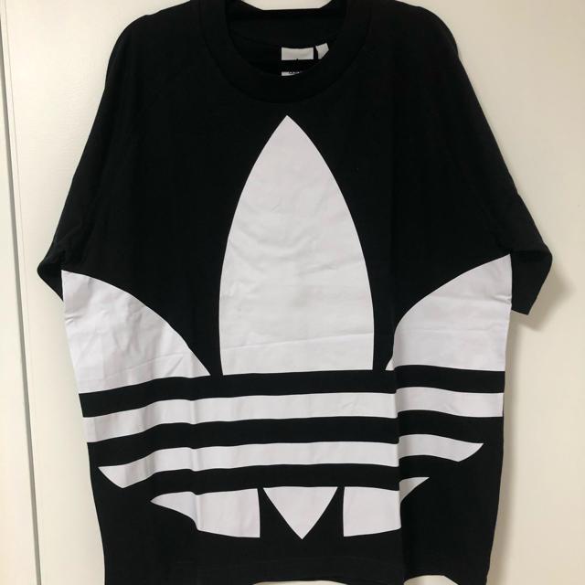 adidas(アディダス)のアディダス 黒 Lサイズ ビッグシルエット ロゴ メンズ レディース メンズのトップス(Tシャツ/カットソー(半袖/袖なし))の商品写真