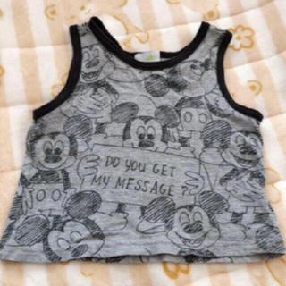 ディズニー(Disney)のミッキーマウス タンクトップ 80サイズ(タンクトップ/キャミソール)