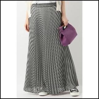 イエナスローブ(IENA SLOBE)のSLOBE IENA チェック プリーツロングスカート フリーサイズ(ロングスカート)