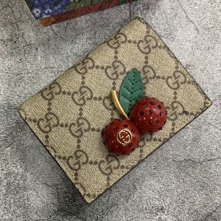 Gucci - GUCCI GG チェリー スプリーム 二つ折り財布