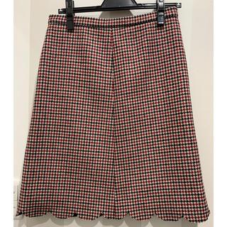 RED VALENTINO - RED  VALENTINO ツイード スカラップ スカート
