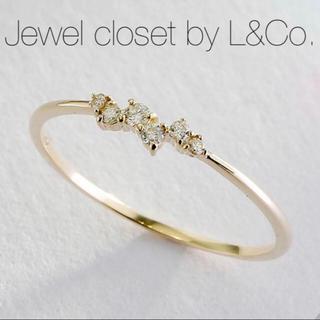 agete - 現行品【Jewel closet by L&Co.】K10ランダム ダイヤリング
