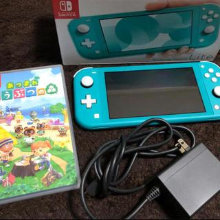 ニンテンドースイッチ(Nintendo Switch)のNintendo Switch Lite 本体 あつまれどうぶつの森セット(家庭用ゲーム機本体)