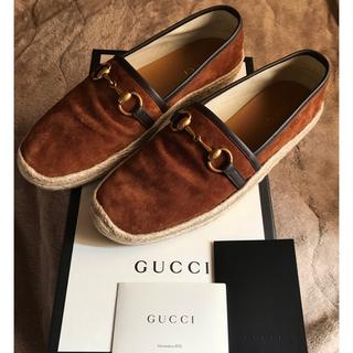 グッチ(Gucci)のGUCCI グッチ エスパドリーユ 靴 シリアルナンバー(スリッポン/モカシン)