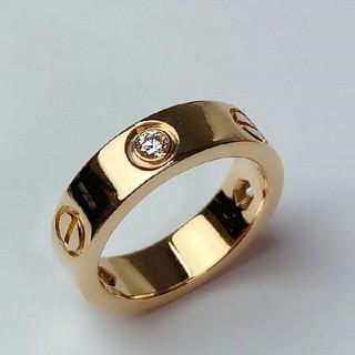 カルティエ(Cartier)のカルティエ リング ラブリング 指輪 ハーフダイヤ(リング(指輪))