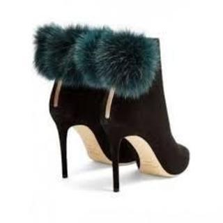 ジミーチュウ(JIMMY CHOO)の美品❤️ジミーチュウ 定価17万 ショートブーツ 37.5(約24-24.5cm(ブーツ)