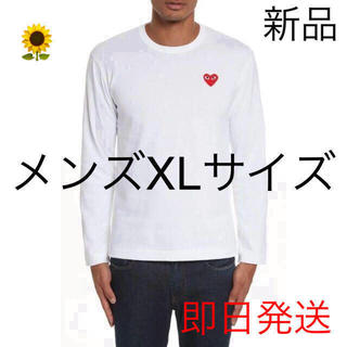 COMME des GARCONS - 入手困難 プレイコムデギャルソン メンズ 長袖 Tシャツ XLサイズ ホワイト