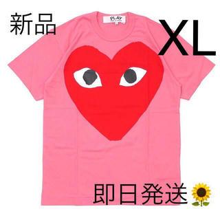 COMME des GARCONS - 入手困難 XLサイズ プレイコムデギャルソン メンズ Tシャツ ピンク