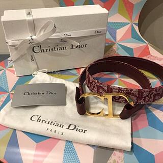 ディオール(Dior)のDIOR ベルト バーガンディ(ベルト)