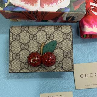 Gucci - GUCCI グッチ チェリー さくらんぼ ミニウォレット 財布