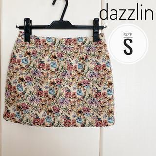 ダズリン(dazzlin)のdazzlin 花柄タイトスカート(ミニスカート)