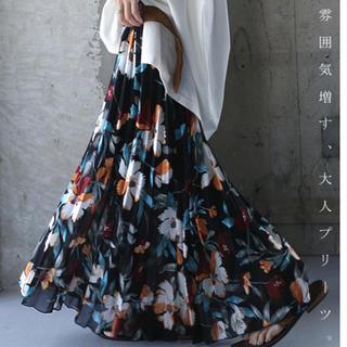 antiqua - antiqua花柄スカート