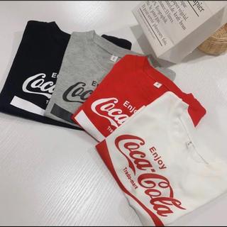 90 レッド 赤 男の子 女の子 Tシャツ コカコーラ 夏 おそろい