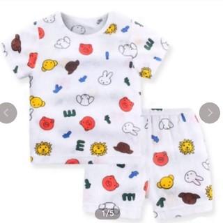 新品 動物柄 miffy 半袖パジャマ 80