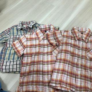 エーアーベー(eaB)の半袖チェックシャツ3枚(Tシャツ/カットソー)