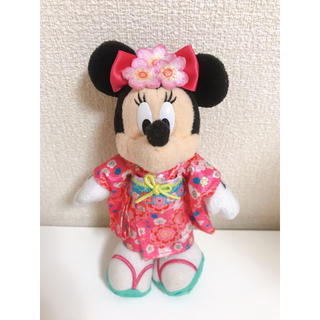 Disney - ミニーちゃん ぬいぐるみバッチ お正月 2014年 キーホルダー