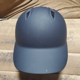ZETT - ZETT 一般軟式 両耳ヘルメット ツヤ消しネイビー Lサイズ
