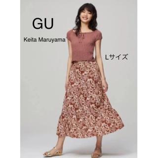 GU - GU  Keita Maruyama アロハプリントスカート Lサイズ
