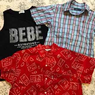 ベベ(BeBe)のBeBe  Ralph Lauren タンクトップ 半袖シャツ 3枚セット(Tシャツ/カットソー)