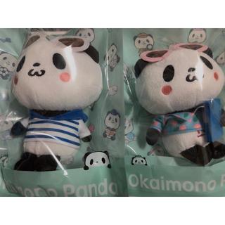 ラクテン(Rakuten)の楽天パンダ お買いものパンダ ぬいぐるみ 2個セット(キャラクターグッズ)