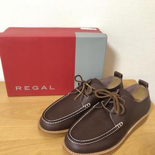 REGAL - 【新品未使用】REGAL デッキシューズ 24.5cm ダークブラウン リーガル