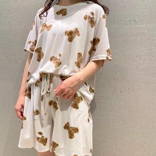 gelato pique - 完売品♡【ジェラートピケ】ベアモチーフ抗菌防臭Tシャツ&ショートパンツ(BEG)