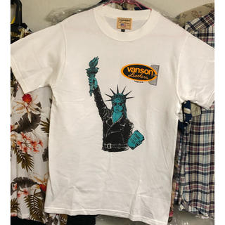 バンソン(VANSON)の未使用★VANSON Tシャツ ホワイト Sサイズ(Tシャツ/カットソー(半袖/袖なし))
