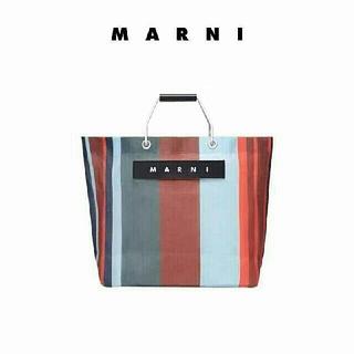 Marni - MARNI マルニカフェ ストライプバッグ
