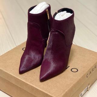 CARRANO - 新品★ カラーノ ハラコ ブーツ ブーティ