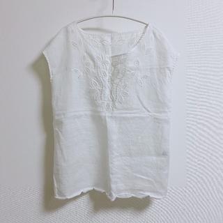 デミルクスビームス(Demi-Luxe BEAMS)の『デミルクスビームス』リネンブラウス(シャツ/ブラウス(半袖/袖なし))