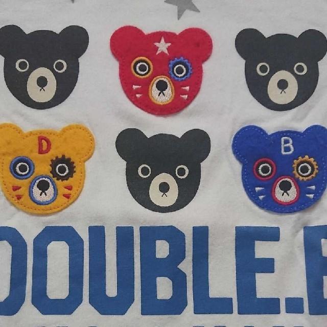 DOUBLE.B(ダブルビー)の【中古】100☆ミキハウス ダブルB☆半袖Tシャツ キッズ/ベビー/マタニティのキッズ服男の子用(90cm~)(Tシャツ/カットソー)の商品写真