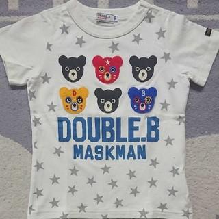 DOUBLE.B - 【中古】100☆ミキハウス ダブルB☆半袖Tシャツ