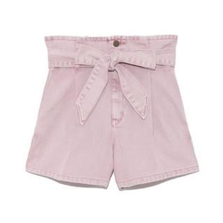 Lily Brown - lilybrown ウエストリボンショートパンツ ピンク サイズ1