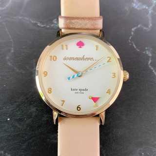 kate spade new york - ☆特価セール☆ 【ケイトスペード】 時計 腕時計 カーキ アナログ レザーベルト