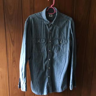 ユニクロ(UNIQLO)のデニムシャツ ユニクロ Lサイズ 男女兼用 長袖シャツ  正規品(シャツ)
