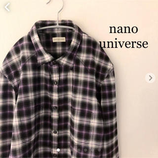 ナノユニバース(nano・universe)のナノユニバース  チェックシャツ 長袖 Lサイズ nano universe(シャツ)