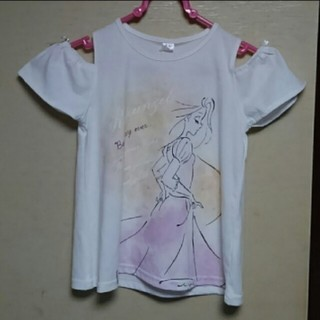 Disney - ★ラスト①★【新品未着用】110ディズニーラプンツェル肩開きTシャツ