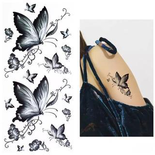 ✧︎再入荷✧︎貼り方剥がし方日本語説明付き タトゥーシール㉓蝶