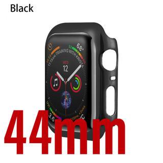 アップルウォッチ(Apple Watch)のApple Watch 4 5 6 SE 44mm ケース カバー ブラック 黒(腕時計(デジタル))