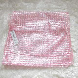 ★新品★オーガンジー ラメ チェック 兵児帯 浴衣に ピンク(浴衣帯)