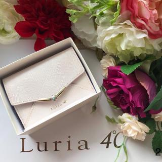 ヨンドシー(4℃)のルリア4°c ミニ財布 折り財布 小さい かぶせ財布 ピンク ケイトスペード(折り財布)