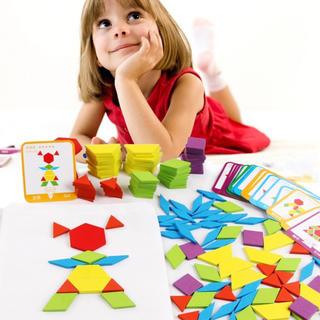 割引き有り♪ 知育玩具 タングラム 木製 パズル