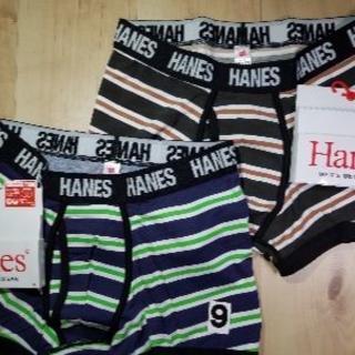 ヘインズ(Hanes)の(9)2枚組3D上質モデルMサイズヘインズ前開きボクサーブリーフ綿混ストレッチ(ボクサーパンツ)