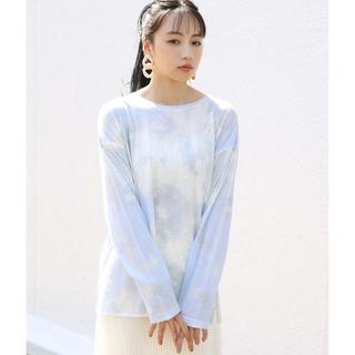 ワンアフターアナザーナイスクラップ(one after another NICE CLAUP)のNaNa*様専用 nice claup タイダイTシャツ ブルー(Tシャツ(長袖/七分))